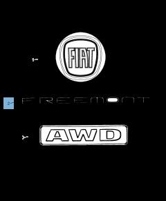 Code model Freemont achterzijde voor Fiat Freemont