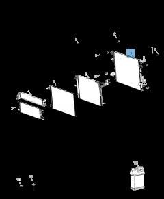 Radiateur motorkoelsysteem voor Jeep Wrangler