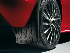 Achterspatlappen met grafische afbeelding van bandprofiel voor Alfa Romeo Giulietta