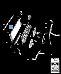 Radiateur motorkoelsysteem voor Jeep Compass/Patriot