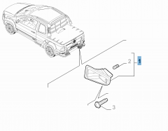 Linker kentekenplaatverlichting voor Fiat Professional Strada