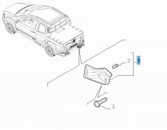 Rechter kentekenplaatverlichting voor Fiat Professional Strada