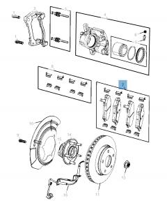 Remblok voorste remschijf (set 4 stuks) voor Jeep Compass