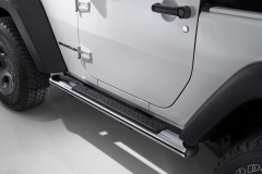 Verchroomde klaptreden, opstaptreden aan de zijkant onder portier voor Jeep Wrangler